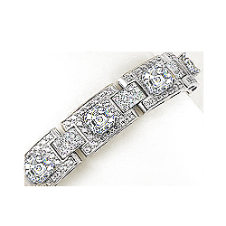 Melbourne Asscher with Rounds CZ Linked Bracelet