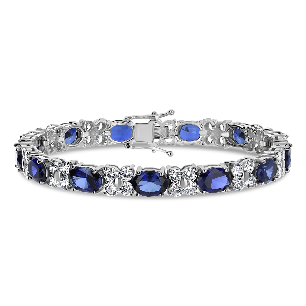 Pamela Ovals with Rounds Cubic Zirconia Designer Bracelet