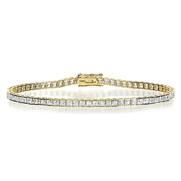 Winston Channel Set Princess Cut Eternity Tennis Bracelet, 8.58 Carats