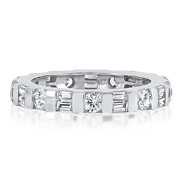 Sydney Baguettes and Rounds with Bars CZ Eternity Band