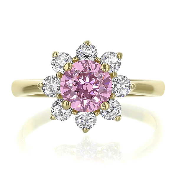 Faye 1.0 Carat Center Round Flower Design Ring