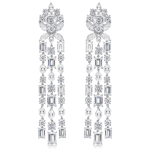 Niagara Chandelier Cubic Zirconia Drop Earrings