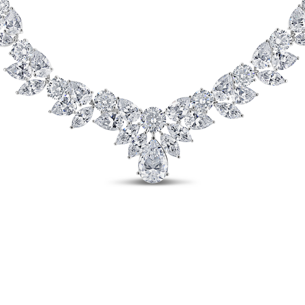 Providence Round, Pear & Marquise Formal CZ Necklace