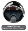 SMARTdri Plus K-972P hand dryer uses a single-port nozzle to deliver a focused dry