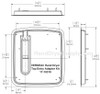 Dimensions of the 17-10310 top entry adapter kit for the World VERDEdri hand dryer.