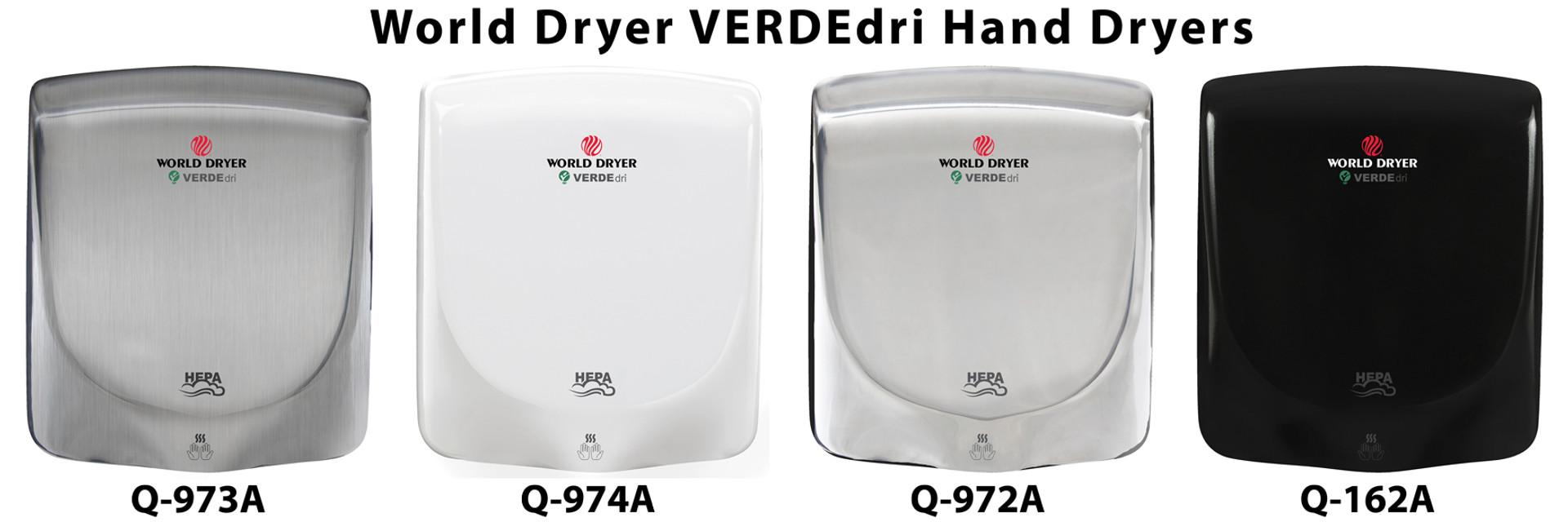 World Dryer Verdedri Hand Dryers
