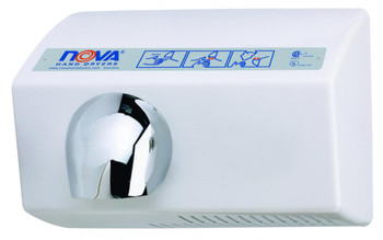 World Dryer Nova 5 0212 Aluminum White commercial hand dryer