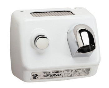 World Dryer AirStyle Model B B-974 Cast Iron White commercial hair dryer