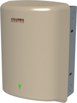 PSiSC Columbia Vortex HD-638-210 (110-120V) and HD-648-210 (220-240V) Ivory Steel Automatic Recessed Mount Hand Dryer