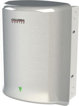 PSiSC Columbia Vortex HD-637-210 (110-120V) and HD-647-210 (220-240V) Satin Finish Steel Automatic Recessed Mount Hand Dryer