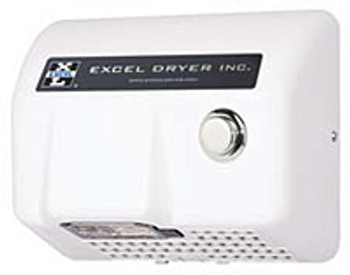 Excel Dryer Lexan HO-BL Push Button White 120 Volt Hand Dryer