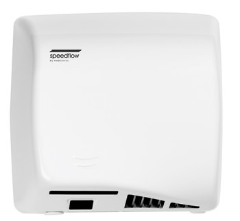 Saniflow Speedflow M06AF Auto Cast Iron White ADA Univ Volt Hand Dryer