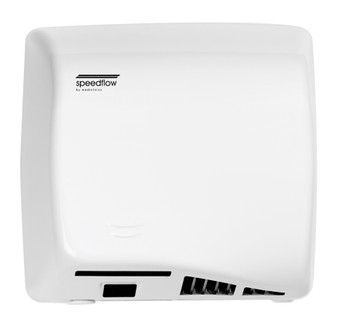 SPEEDFLOW Series M06A Automatic Steel White Hand Dryer from Saniflow - High Speed, ADA compliant, Universal Voltage, Surface Mounted Design