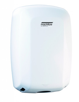MACHFLOW Series M09A Automatic Steel White Hand Dryer from Saniflow - High Speed, Universal Voltage, Surface Mounted Design