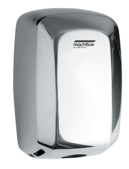 MACHFLOW Series M09AC Automatic Stainless Steel Bright Hand Dryer from Saniflow - High Speed, Universal Voltage, Surface Mounted Design