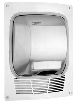 MEDIFLOW Series KT0010CS Stainless Steel Satin Recss Kit for Mediflow Hand Dryer from Saniflow