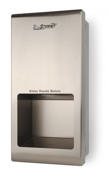 HD0955-09 BluStorm 2 Recessed High Speed Hand Dryer from Palmer Fixture is Brushed Stainless Steel, 110/120V, Recessed Mounted and an ADA Compliant Hand Dryer!