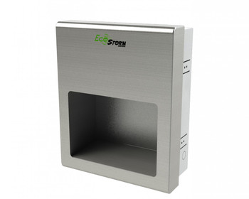 EcoStorm Recessed HD945 Brushed Stainless Steel Hand Dryer from Palmer Fixture - HD0945-09 - 110/120V - the Green ADA Compliant Hand Dryer!