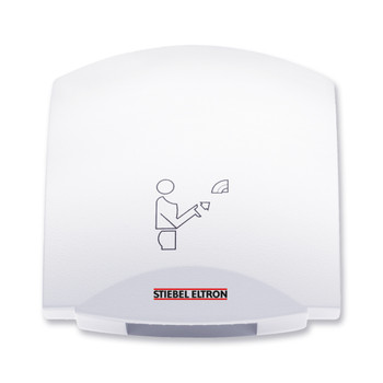 Galaxy M Alpine White Aluminum Hand Dryer from Stiebel Eltron - Automatic Touchless Surface Mounted Ultra Quiet Design
