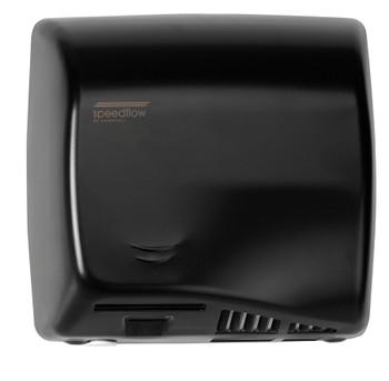 Speedflow AB06AB hot air hand dryer in Graphite Black has an adjustable high speed motor.