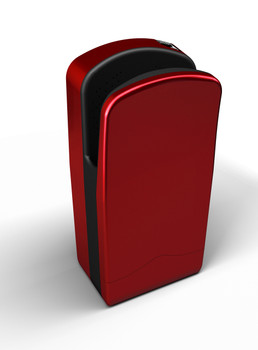 The Cherry Red Veltia V7 Hand Dryer