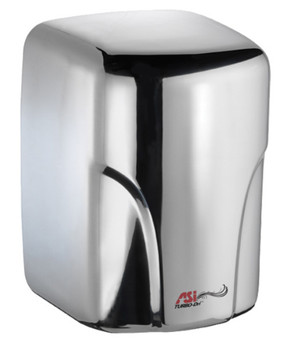 Turbo Dri 0197-92 hand dryer in bright stainless steel by ASI
