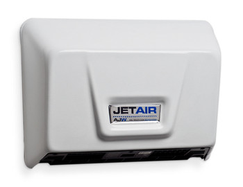 AJW U1511EA JetAir White Low Profile ADA Universal Voltage Hand Dryer