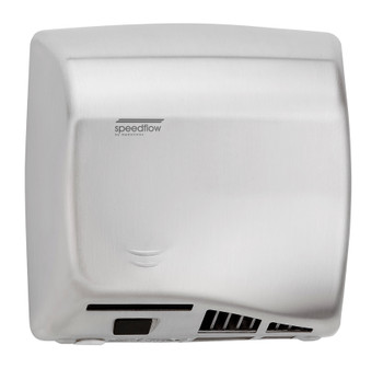 Speedflow Plus M17ACS-UL Automatic Brushed Stainless Steel Hand Dryer from Saniflow - ADA Surface Mounted Design