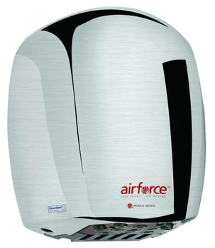 World Airforce J-971 Brushed Chrome Aluminum Hand Dryer