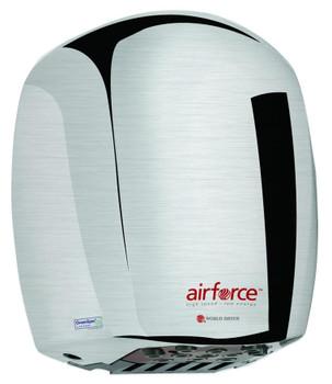 World Airforce J-971 Brushed Chrome Aluminum Hand Dryer