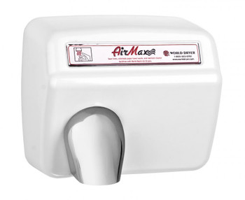 XM5-974 AirMax White Cast Iron Automatic hand dryer from World Dryer
