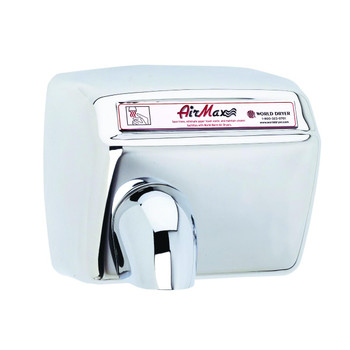 World Dryer AirMax Stainless Steel Polished Automatic commercial hand dryer