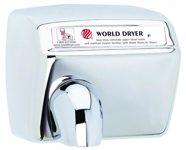 World Dryer Model XA5-972 Polished Stainless Steel Automatic hand dryer