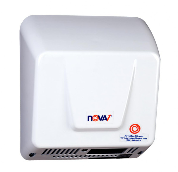 World Dryer Nova 1 Aluminum White commercial hand dryer