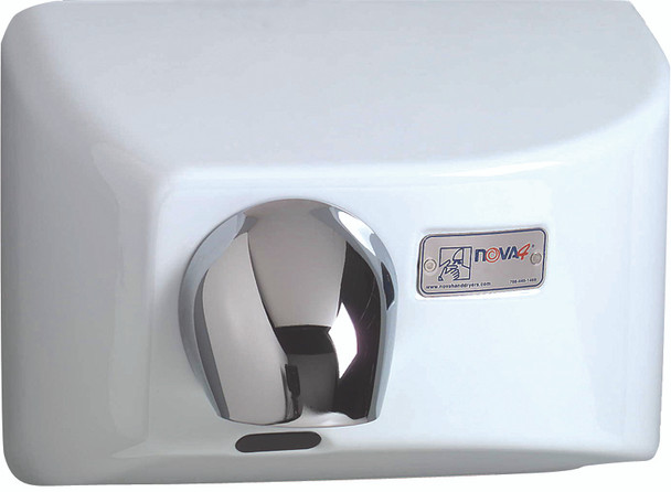 World Dryer Nova 4 Cast Iron White commercial hand dryer