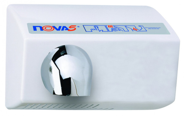 World Dryer Nova 5 0222 Aluminum White commercial hand dryer