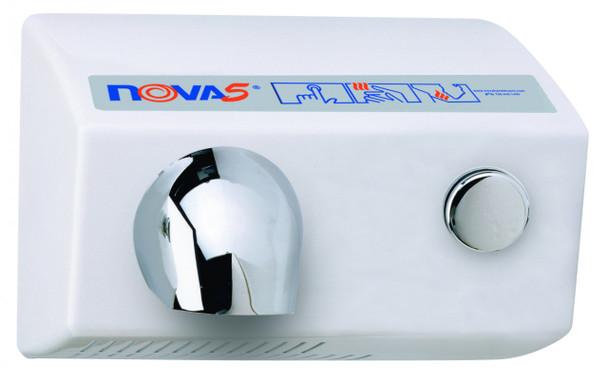 World Dryer Nova 5 0112 Aluminum White Push Button commercial hand dryer