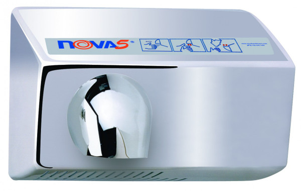 Automatic Nova 5 021299 and 022299 Aluminum Brushed Chrome hand dryer by World Dryer