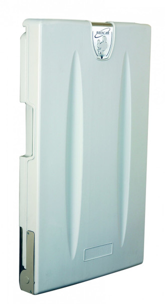 World Dryer DryBaby ABC-300V Polyethylene White Surface Mount Vertical Style Baby Changing Station