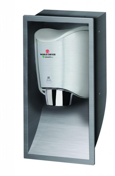 World Dryer SMARTdri KKR-973 Stainless Steel Brushed Recess Kit