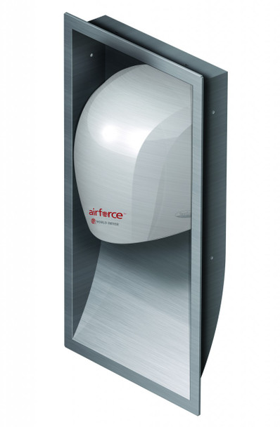 World Dryer KJR-973-1 Brushed Stainless Steel Recess Kit to make Airforce Hand Dryers ADA compliant