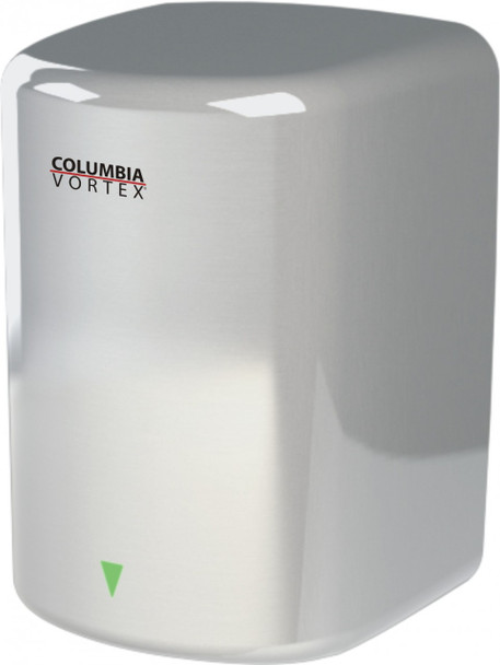 PSiSC Columbia Vortex HD-617-210 (110-120V) and HD-627-210 (220-240V) Satin Finish Steel Automatic Surface Mount Hand Dryer