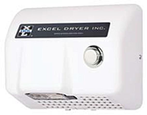Excel Dryer Lexan HO-BL Push Button White 120 Volt Hand Dryer