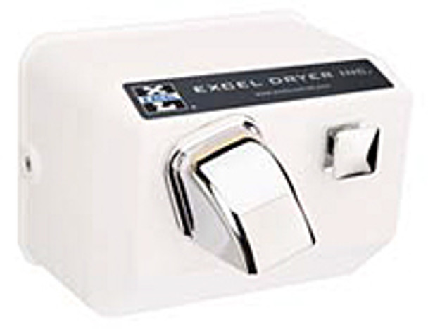 Excel Dryer Cast Hands On 76-W Push Button White 120 Volt Hand Dryer