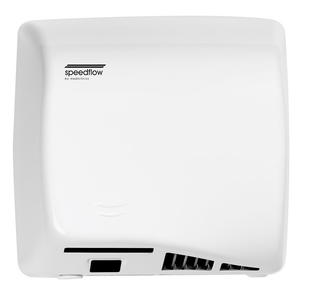 Saniflow Speedflow M06AF Auto Cast Iron White ADA Univ Volt Hand Dryer