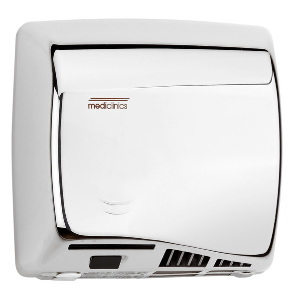 SPEEDFLOW Series M06AC Automatic Stainless Steel Bright Hand Dryer from Saniflow - High Speed, ADA compliant, Universal Voltage, Surface Mounted Design