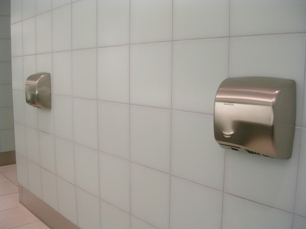 Saniflow SPEEDFLOW hand dryers installed at the Red Carpet Club from United Airlines at Denver Airport