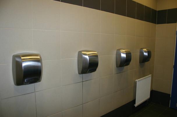 Saniflow MEDIFLOW Intelligent hand dryers at a university