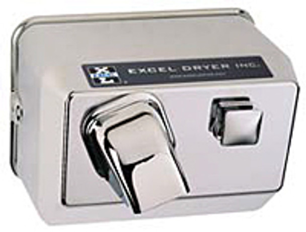 CAST Series 76-C Hands On Push Button Restroom Hand Dryer from Excel Dryer - Die-cast Zinc Alloy, Chrome Plated Cover, Surface Mount