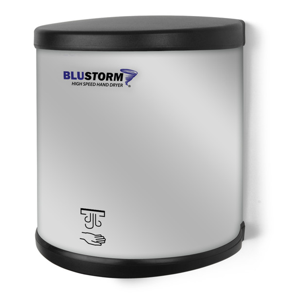 BluStorm High Speed Brushed Stainless Steel Surface Mounted Hand Dryer from Palmer Fixture - HD950 SS and HD951 SS - HD0950-09 and HD0951-09